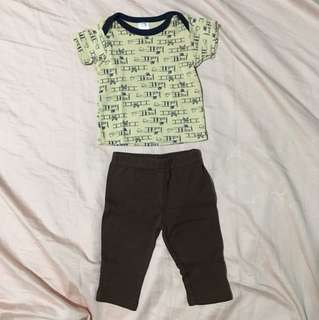 2 sets Hudson Baby Top & Pants