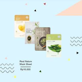 REAL NATURE FACEMASK 16.000!!!!