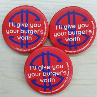 Collectible Burger King Badges
