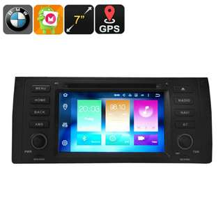 One DIN Car DVD Player - Android 6.0, Octa core, 4GB RAM, Fits BMW 5 Series, 7 Inch Display, 3G, 4G, GPS, CAN BUS, Google Play (CVAIO-C582)