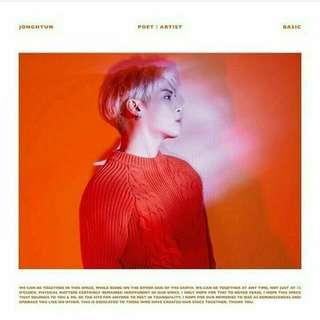 SPECIAL BATCH UNTIL 28TH JAN  JONGHYUN - POET | ARTIST