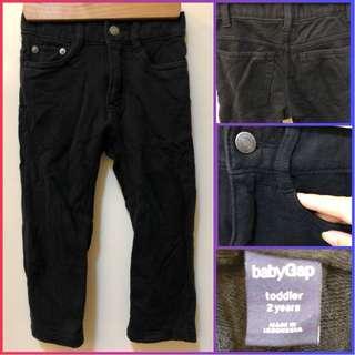 Baby Gap Black Pants (for 2y/o)