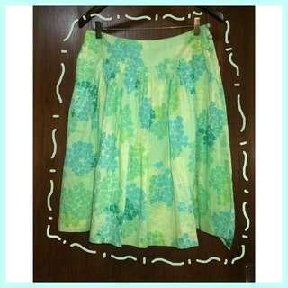 Odille Flower Green Skirt