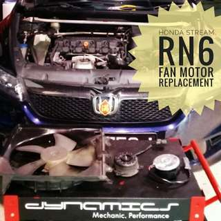 Honda Stream RN6 :Fan_Motor Replacement