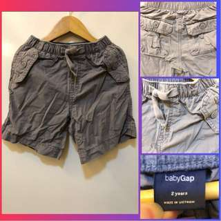 Baby Gap Grey Cargo Shorts (for 2y/o)