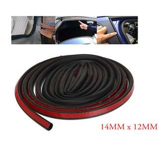 (Big D Shape)Sound Proof Rubber Seal Stripe 3M
