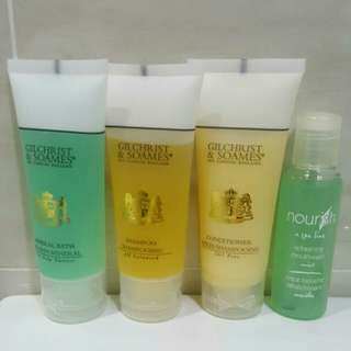 🆕Brand New Shampoo + Conditioner + Mineral Body Bath (Shower) + Mint Mouth Wash Set