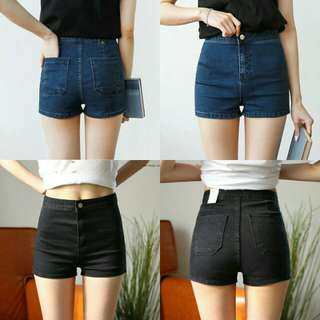 Denim Jeans High Waist Short Pants