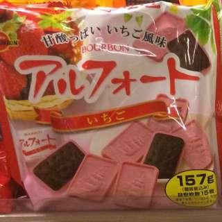 士多啤梨 日本餅乾