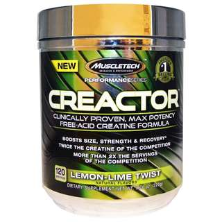 Muscletech, Creactor, Creatine Formula, Lemon-Lime Twist, 7.76 oz (220 g