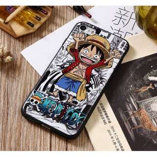 Red Luffy One Piece iPhone Case