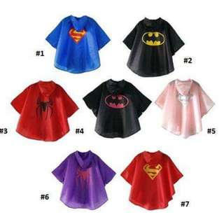 Kids Superhero Raincoat