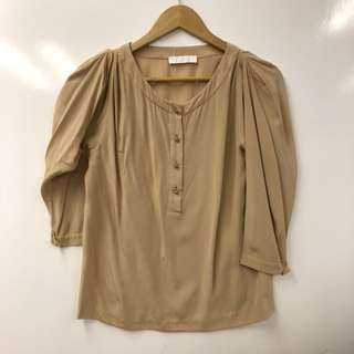 Chloe light brown silk top size 34