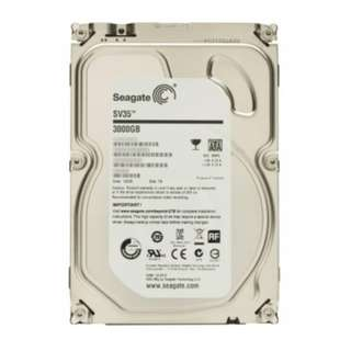Seagate SV35 3TB 7200RPM SATA 6-Gb/s 64MB Cache 3.5-Inch Internal Drive for Video Surveillance (ST3000VX000)