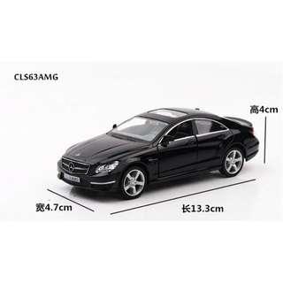 賓士 Mercedes-Benz CLS AMG 跑車 回力合金車 黑色 白色 1:36 預購 阿米格Amigo
