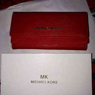 Dompet double flip red