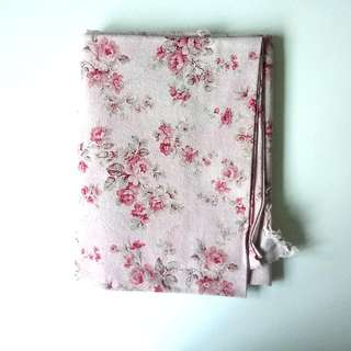 BN Cotton Linen Fabric in Romantic Pink Florals