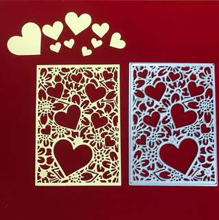 Heart and flower background scrapbooking Cutting Die