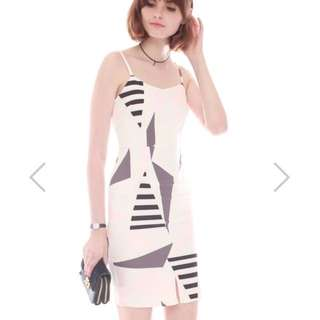 acw origami shapes fitted dress