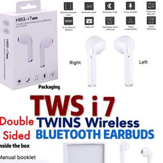 TWS i7 Twins Wireless Bluetooth Earbuds (Double Sided)