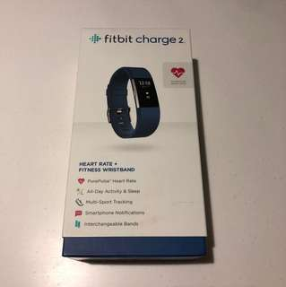 Fitbit Charge 2 Navy Blue Free Leather Strap