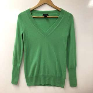 J.crew green cashmere top blouse size Xs