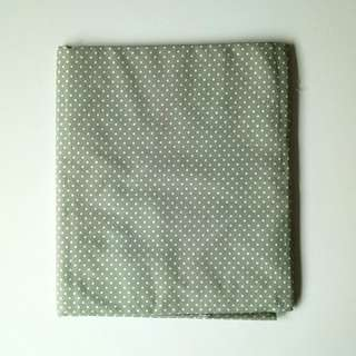 BN Cotton Fabric in Green with Dots