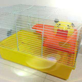 Hamster Cage with Detachable Half Upper Deck & House