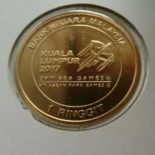 Gold nordic coin 1 ringgit malaysia