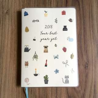 BN kikki.K 2018 A5 Weekly Diary: Sweet