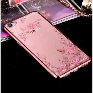 Floral Transparent Case for Samsung S6/S6 Edge, Huawei Mate 7/8, Samsung note 3, OPPO F1s/a59