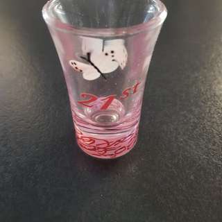 21st shot glasses