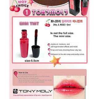 Tony Moly Mini Lip Tint (No.2 Delight Red)