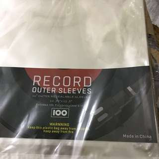 New Vinyl record outer resealable sleeves - 100 pieces