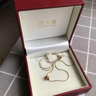 周大福necklace 100%NEW