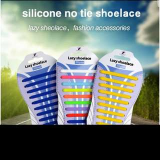 20 pcs lazy shoelace silicone