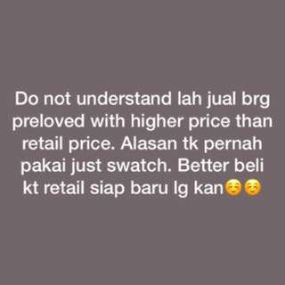 Preloved price more higher than new items🤦🏻‍♀️