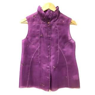 Shiatzy Chen purple with embroideries vest size F38