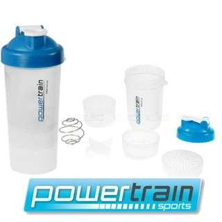 Gym Protein Supplement Drink Blender Mixer Shaker Shake Ball Bottle Cup 700ml