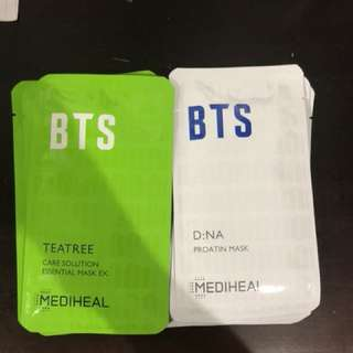 Bts mediheal moisturizing mask set