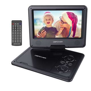 DBPOWER 9.5-Inch Portable DVD Player with Rechargeable Battery, SD Card Slot and USB Port