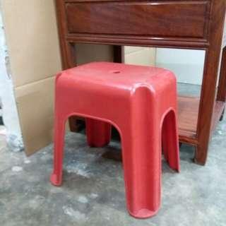 中古懷舊~香港製造~紅A膠凳仔
