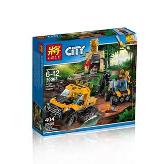 LELE 39063 Cities Jungle Halftrack Mission