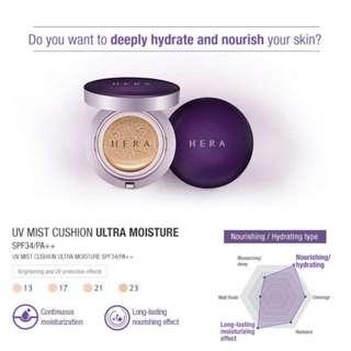 Hera UV Mist Cushion Ultra Moisture Shade No. 13 Ivory