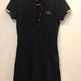 Lacoste dress cotton size 4/xs