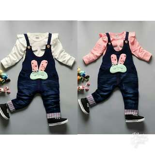 Rabbit Girl Overall Two-Piece Set
