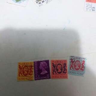 英女王郵票一至四毫