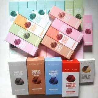 {Instock!}April Skin Turn-Up Color Treatment Hair Dye/ Cream/Bleach Kit(Authentic)