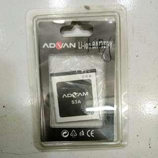 Baterai Advan S3A original