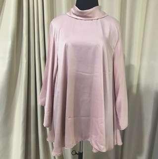 Satin pink blouse